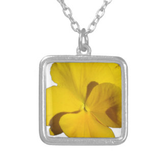 Yellow Pansy 201711f Silver Plated Necklace