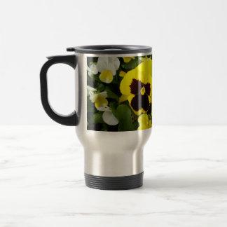 Yellow Pansy Delights, Travel Mug