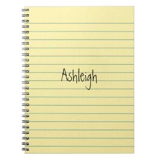 Yellow Paper Notebooks