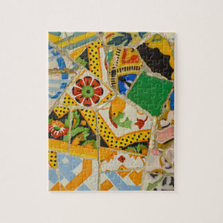 Yellow Parc Guell Tiles in Barcelona Spain Jigsaw Puzzle