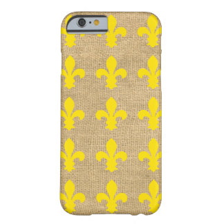 Yellow Parisian Moods Fleur de Lys Barely There iPhone 6 Case