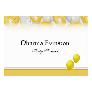 Yellow Party Balloons Business Card