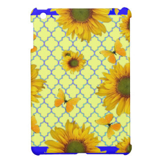 Yellow Pattern Butterfly & Sunflowers iPad Mini Cover