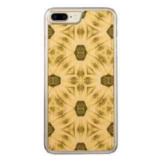 Yellow Pattern Carved iPhone 8 Plus/7 Plus Case