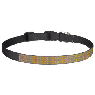 Yellow pattern dog collar - Lemon Drops