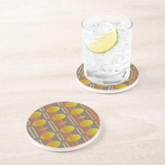 Yellow Pattern, Drinking Coaster - Lemon Drops