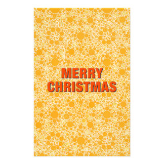 Yellow Pattern Merry Christmas Stationery Design