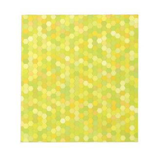 yellow pattern notepad