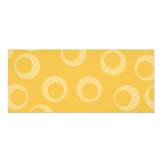 Yellow pattern of circles. Retro. 10 Cm X 24 Cm Invitation Card