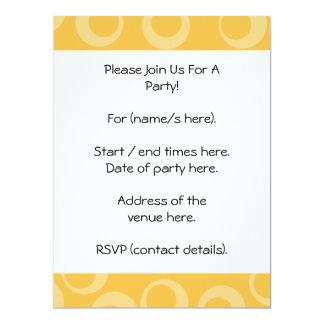 Yellow pattern of circles. Retro. 17 Cm X 22 Cm Invitation Card