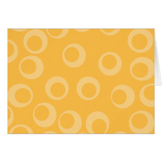 Yellow pattern of circles. Retro. Note Card