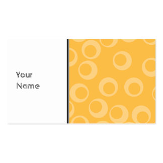 Yellow pattern of circles. Retro. Pack Of Standard Business Cards