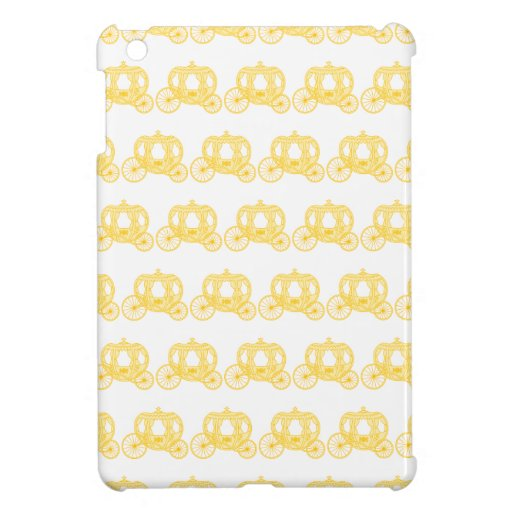 Yellow Pattern of Princess Carriages iPad Mini Covers