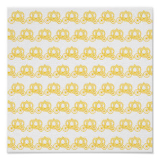 Yellow Pattern of Princess Carriages Poster