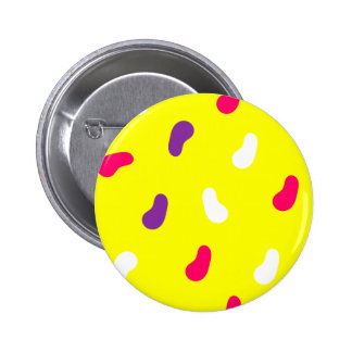 Yellow Pattern Standard, 2¼ Inch Round Button