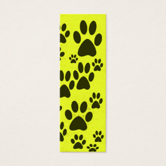 Yellow Paws Bookmarks Mini Business Card