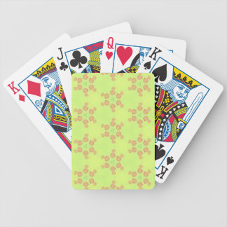 Yellow Peach Customizable Background Pattern Poker Deck