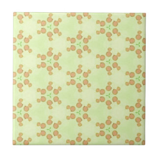 Yellow Peach Customizable Background Pattern Small Square Tile