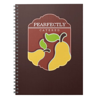 yellow pears fruit emblem bakery chef catering note book