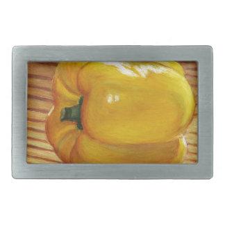 Yellow Pepper Rectangular Belt Buckles