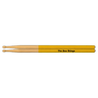 Yellow Personalized Drumsticks