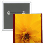Yellow Petals Pinback Button