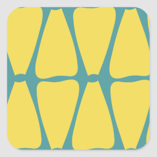 Yellow Petals Square Sticker