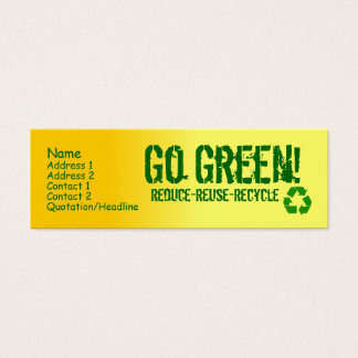 yellow, phone_recycle, Name, Address 1, Address... Mini Business Card
