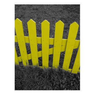 Yellow Picket Fence Postcard