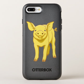 Yellow Pig Day July 17 Cute Piglet OtterBox Symmetry iPhone 7 Plus Case