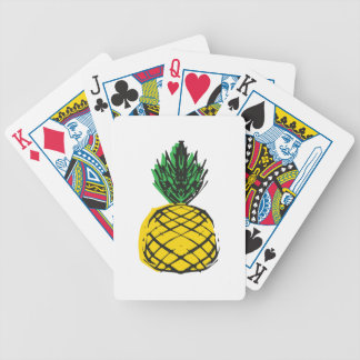YELLOW PINEAPPLE BICYCLE PLAYING CARDS