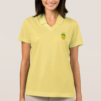 Yellow pineapple monogram pique polo shirt