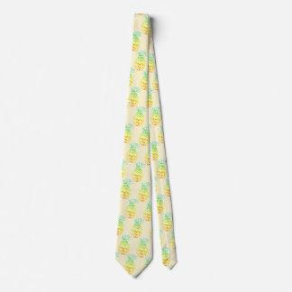 Yellow Pineapple Neck Tie