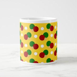 Yellow ping pong pattern jumbo mug