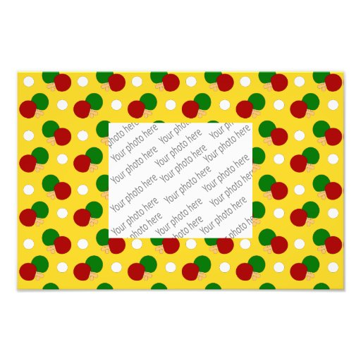 Yellow ping pong pattern photo print