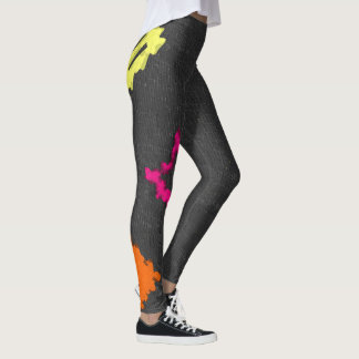 Yellow, Pink and Orange Leggings