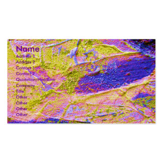 Yellow Pink Blue Crush Artist I Business Card Business Cards