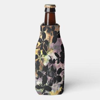 Yellow pink flower pattern floral digital art bottle cooler