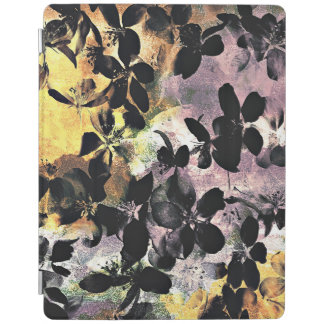 Yellow pink flower pattern floral digital art iPad cover