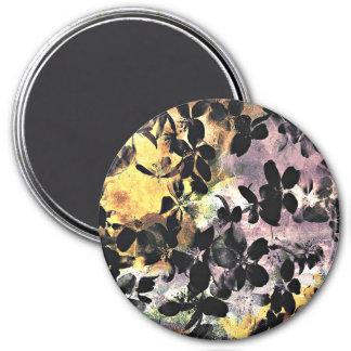 Yellow pink flower pattern floral digital art magnet