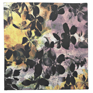 Yellow pink flower pattern floral digital art napkin