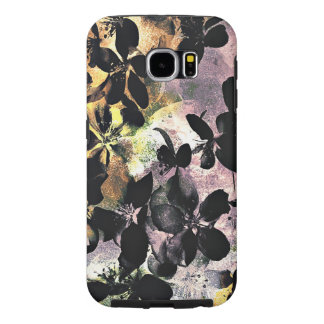 Yellow pink flower pattern floral digital art samsung galaxy s6 cases