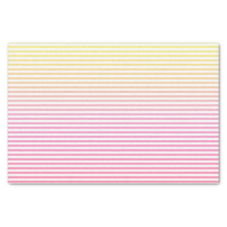 Yellow Pink Gradient Striped Tissue Paper