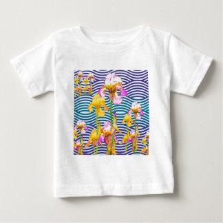 Yellow-Pink Iris Water Garden Baby T-Shirt