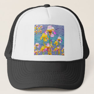 Yellow-Pink Iris Water Garden Trucker Hat