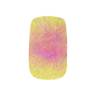 Yellow Pink Orange Sunrise Nail Art Wraps Decals