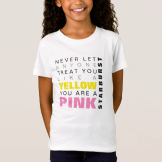 YELLOW PINK STARBURST SELF ESTEEM HUMOR T-Shirt