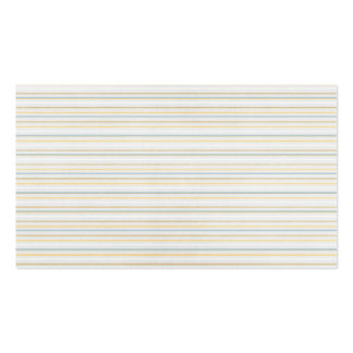 Yellow PInstripes Business Card Templates
