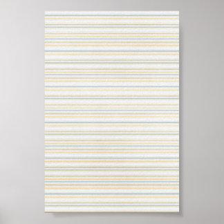 Yellow PInstripes Print