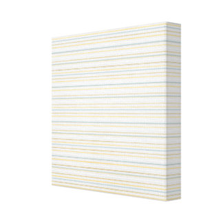 Yellow PInstripes Stretched Canvas Prints